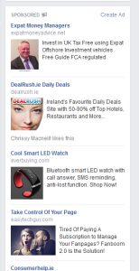 old facebook sidebar ads